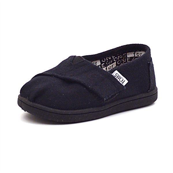 Toms Classics canvas sko i sort