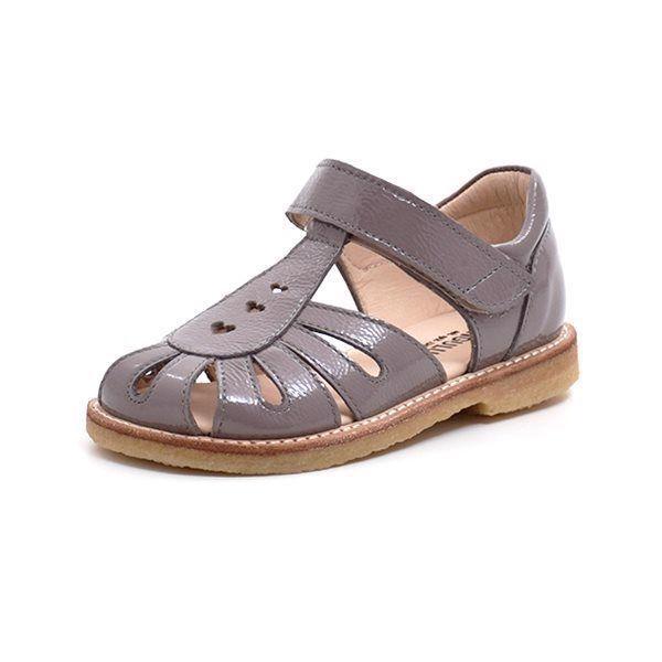 4838f015aa9 Angulus lukket sandal m. tre hjerter grå lak