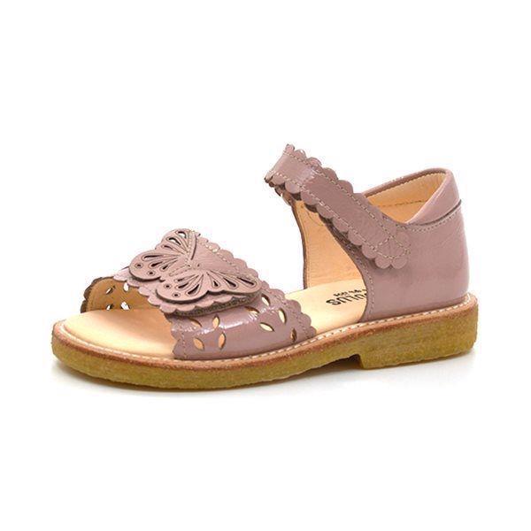 3a9df5ad566c Angulus sandal (SMAL) m. sommerfugl rosa lak