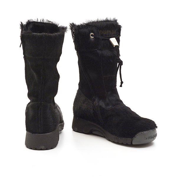 bumper Bumper støvle i sort Pony model 08 Dame Støvler