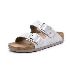 Birkenstock Arizona Big Buckle metallic sølv