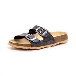 Superfit Fussbett sandal sort/glimmer