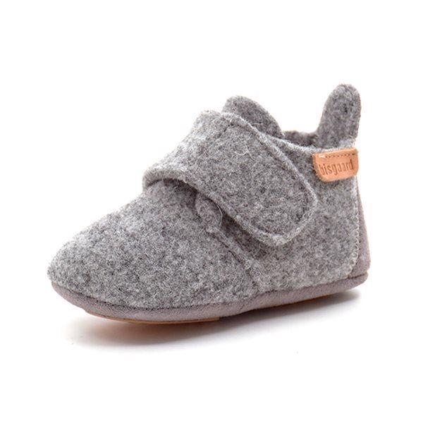a0b002486008 Bisgaard uld sutsko m. velcro grå