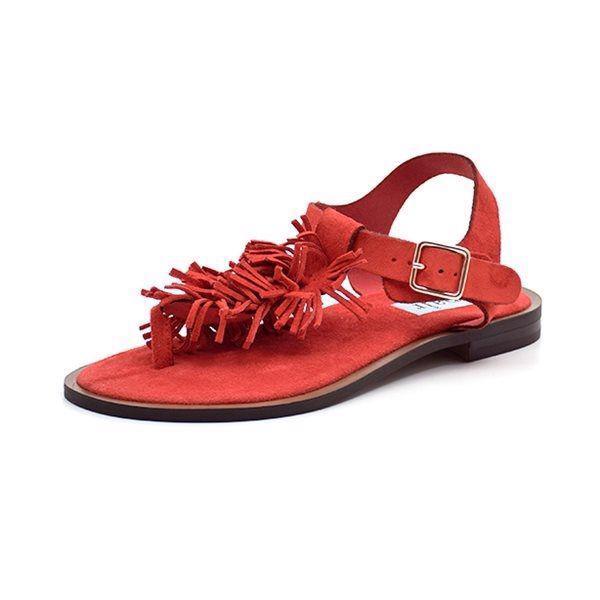 90c044212a4f Apair sandal m.frynser ruskind rød