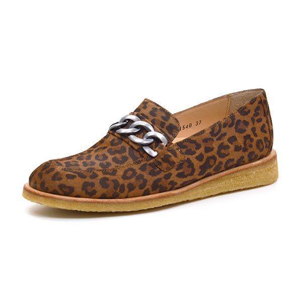 36834f04a82 Angulus loafer m. kæde leopard