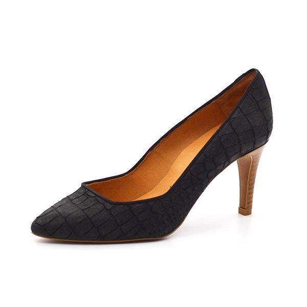 3f99b4e5eda Billi Bi stilet sort kroko - Super elegant stilet fra Billi Bi i sort kroko  præget