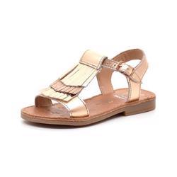 10c14e8c75d5 Shoo Pom Happy Fringe sandal gylden kobber