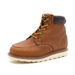Rugged Gear worker fur snørestøvle cognac