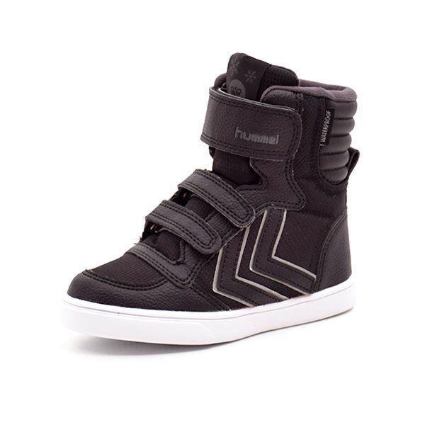609cac298a2 Hummel Stadil Super Poly TEX Boot JR vintersneaker grå/sort - Cool Hummel  vintersneaker i