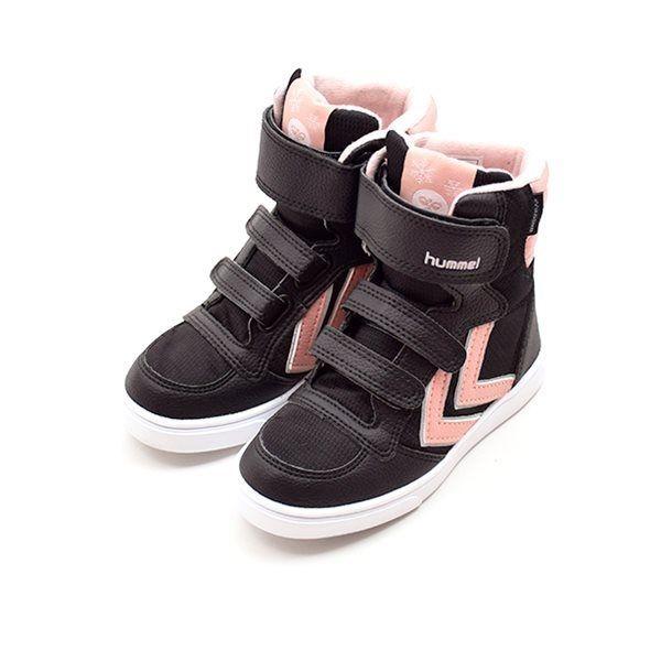 798f39f8e8c9 Hummel Stadil Super Poly TEX Boot JR vintersneaker rosa sort