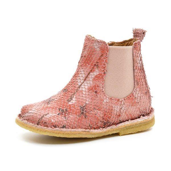 8fac19ec0ac Bisgaard chelsea støvle rosa/blomster