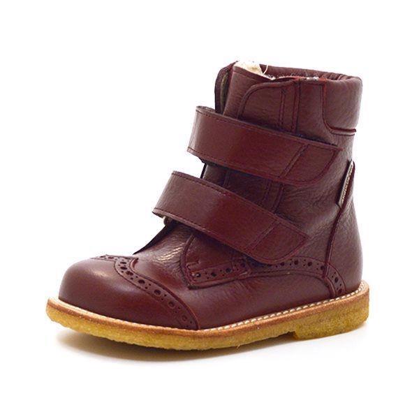 d3aa9854b63 Angulus TEX-støvle m. velcro rosa bordeaux