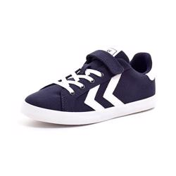Hummel Deuce Court JR Canvas velcro Low mørk navy