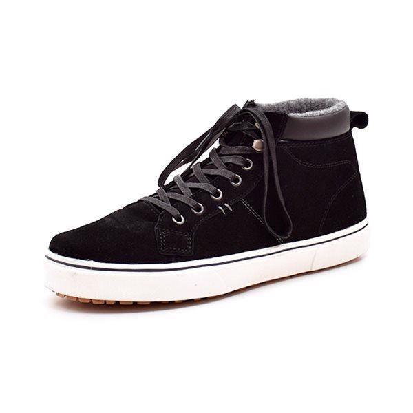 Rugged Gear Sneaky Hike Tex sneaker sort - Lækker vintersneaker fra Rugged Gear til de store drenge. Lukkes med snørebånd. Tex membran holder fødderne tørre på en fugtig dag, lunt foer og kraftige hvide gummisåler. Normal pasform. Indvendige mål: Str. 40: 25,7 cm Str. 41: 26,2 cm Str. 42: 27,0 cm