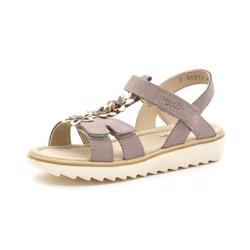 SuperFit Elly sandal ruskind m.blomster lys lilla