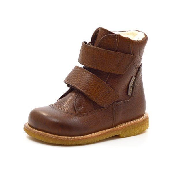 9aaa0261622 Angulus TEX-støvle m. velcro cognac