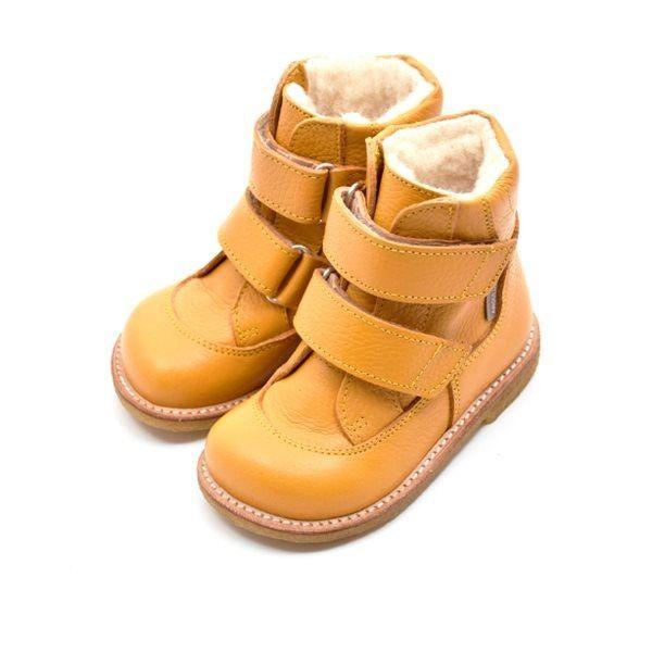 Angulus TEX støvle med velcro lukning Gul