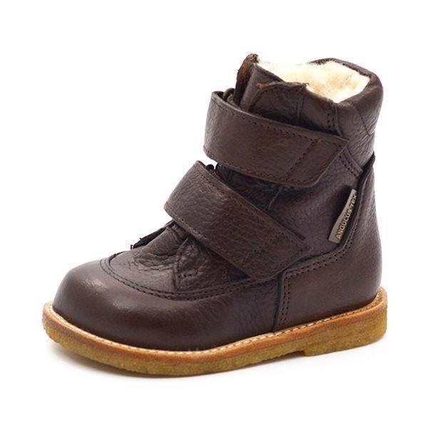 172e708cf100 Angulus TEX-støvle m. velcro mørk brun