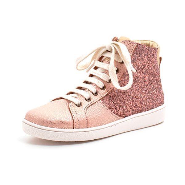 c961e042d365 Bisgaard høj sneaker m. snøre lynlås glitter rosa. VARENUMMER   31830.119.709.Blush