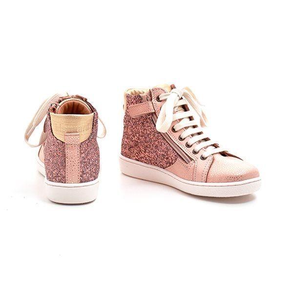 d6af75066209 Bisgaard høj sneaker m. snøre lynlås glitter rosa. VARENUMMER   31830.119.709.Blush
