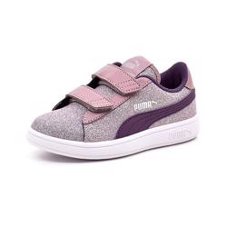 PUMA Smash purple glitter
