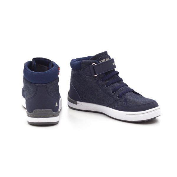 566455c73c3c Viking Mark mid høj Sneaker Navy hvid
