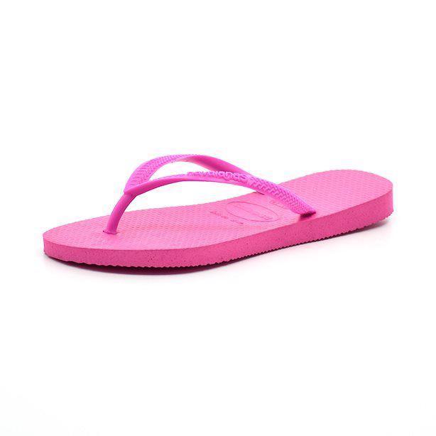 Havaianas kids Slim pink - Super sød klipklap til pigerne fra Havaianas i flot pink Et absolut must til sommer! Indvendige mål: Str. 27/28: 18,0 cm Str. 29/30: 19,5 cm Str. 31/32: 21,0 cm Str. 33/34: 22,5 cm Str. 35/36: 23,5 cm OBS! De angivne str. er brasilianske størrelser, europ