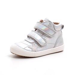 330c08591af Bisgaard høj velcro sneaker m. stjerne sølv