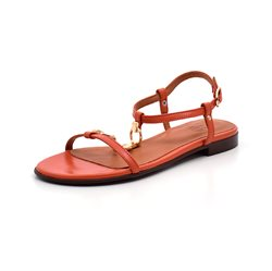 Billi Bi sandal m. t-rem/kæde orange