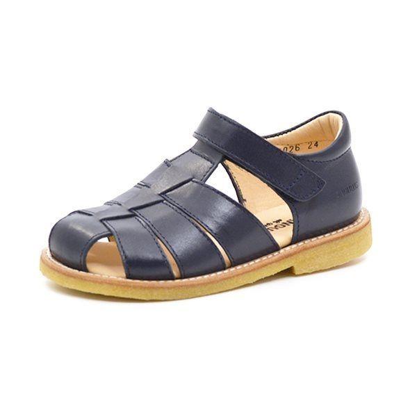 Angulus klassisk sandal navy