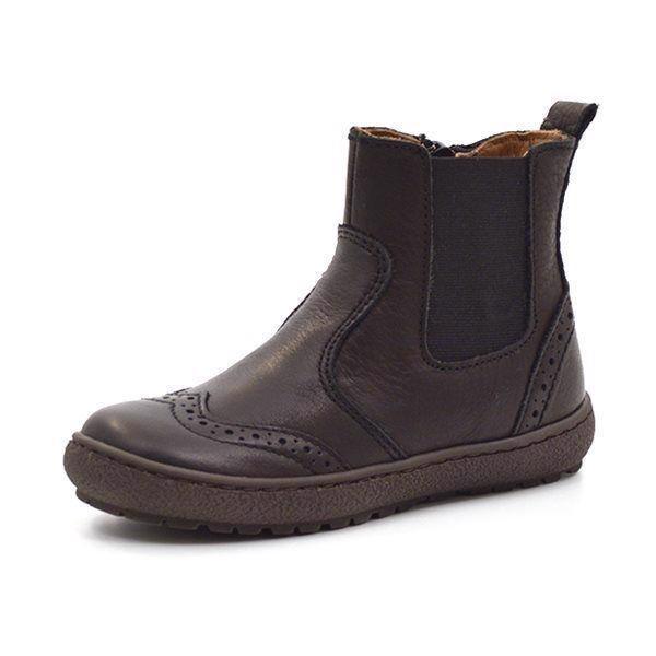 5821d9b3db8b Bisgaard elastik støvlet m. hulmønster sort
