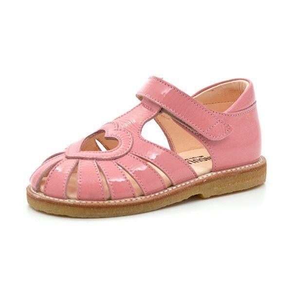 3719bbc28ecb Angulus lukket sandal m. hjerte rosa (SMAL)