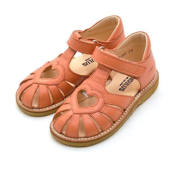 819f22dbe333 Angulus lukket sandal med hjerte koral ( SMAL)