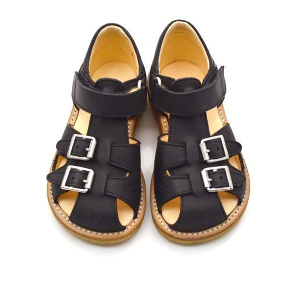4fe56dbc206 - Angulus sandal m. spænder sort