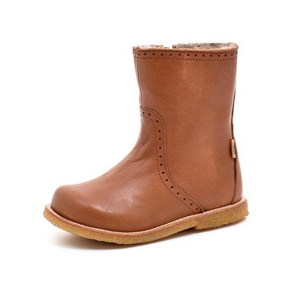 dcc33ff7e45 Bisgaard TEX-støvle m. lynlås cognac