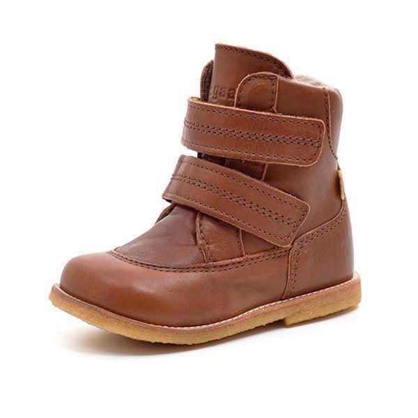 6ca729cad7a2 Bisgaard TEX-støvle m. velcro mørk cognac