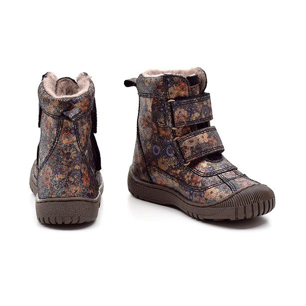Bisgaard TEX støvle m. velcro blomsternavy