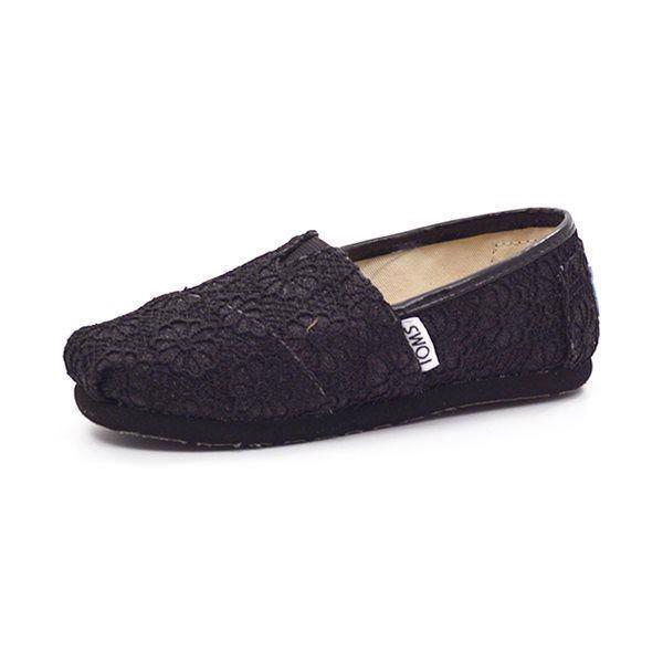 7b2470b1 Toms Classics Crochet Glitter sort - Smarte canvas sko med gummisål fra TOMS,  nemme at