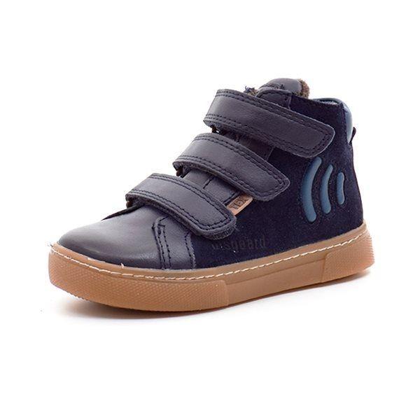 cea692c6be0e Bisgaard sporty TEX-sneaker m. velcro ruskind blå