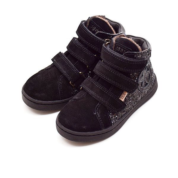 Bisgaard TEX sneaker m. velcro ruskindglimmer sort