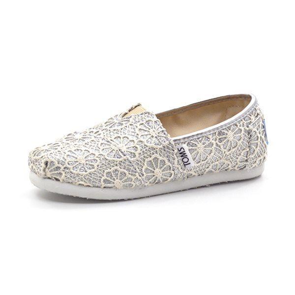 Toms Classics Crochet Glitter Sølv