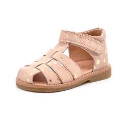 e8dfa9b18271 Pom Pom sandal m.bronze prikker ruskind rosa