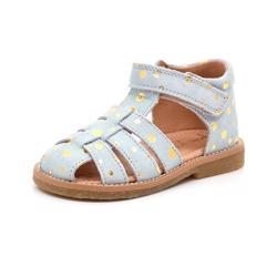 f0fd98b55333 Pom Pom sandal ice blue gold dot