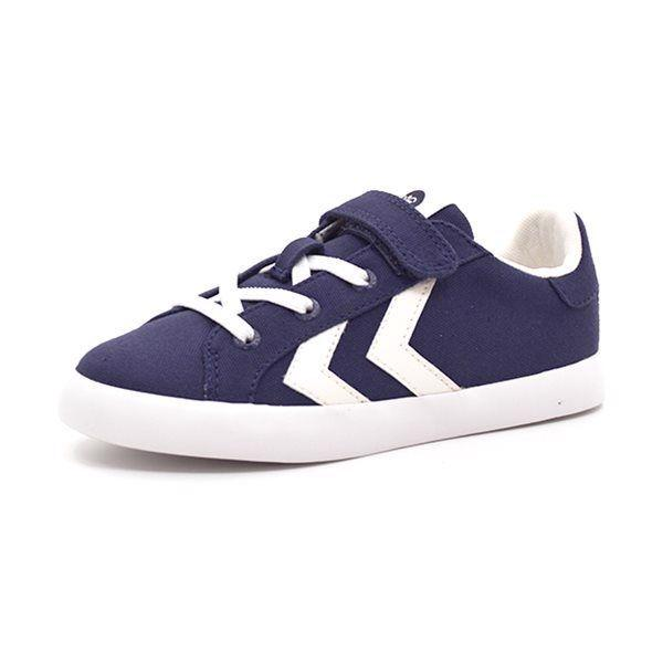 Hummel Deuce Court JR Canvas velcro Low navy