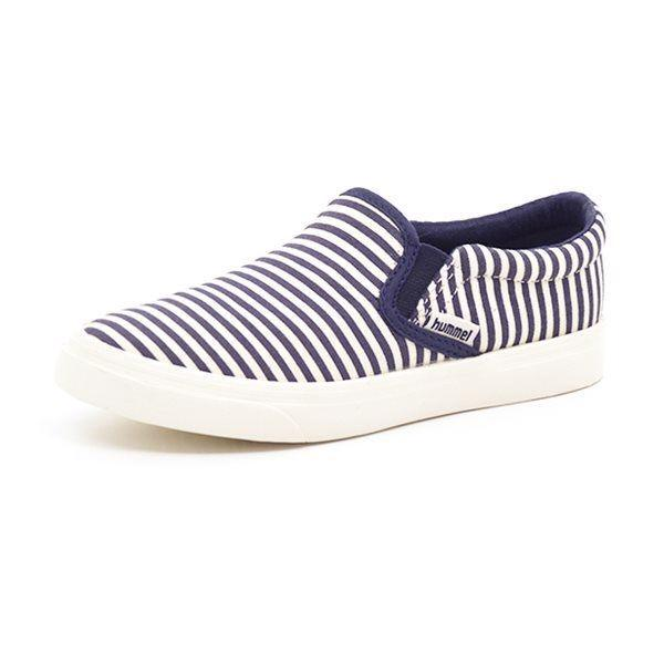 Hummel Slip On Canvas JR marine stribes
