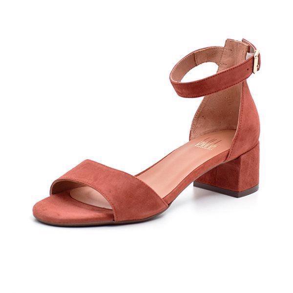 adc340044d8 Billi Bi sandal m. blokhæl ruskind brick