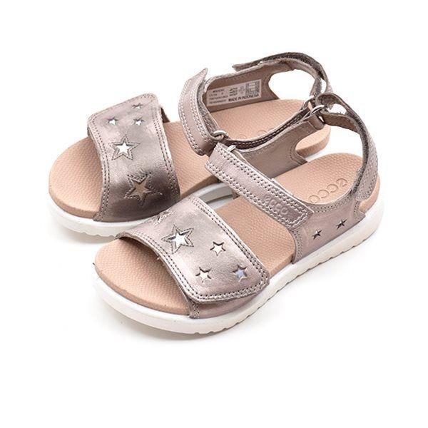 89b24541f46 ECCO Flora sandal m. stjerner metallic. VARENUMMER: 700102.5143.MoonRock