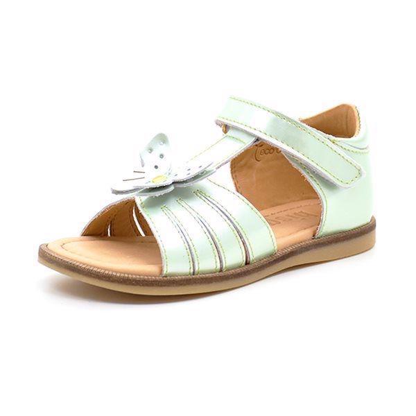 c00e361f8053 Bisgaard pigesandal m. sommerfugl lys mint grøn lak - Skøn Bisgaard sandal  i flot lys