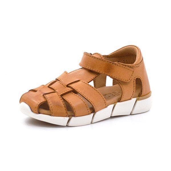 3e10148070f1 Bisgaard velcrosandal m. sporty sål cognac - Smart sandal fra Bisgaard i  cognac læder med