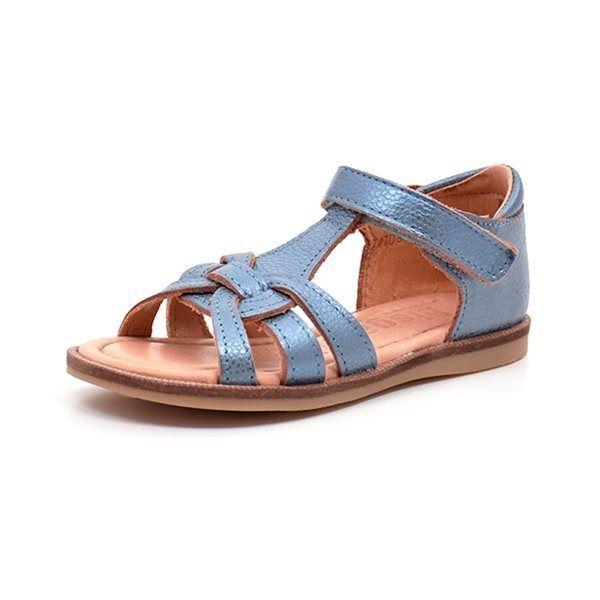 9d749f2a2b03 Bisgaard sandal shiny sea blue